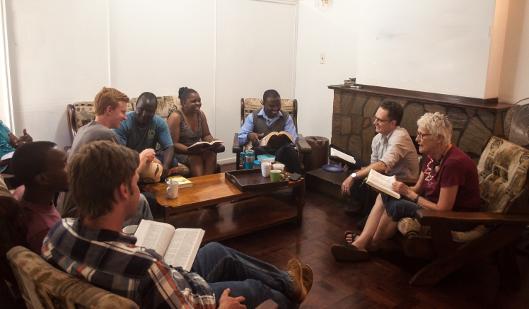 Bible study in the faculty lounge.jpg